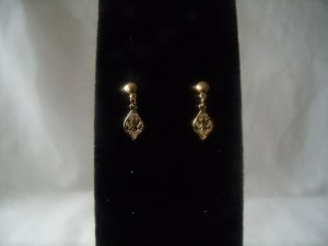 18 kt Gold Small Vine Leaf Stud Earrings