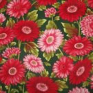 Flower Mart 11 Red Daisies  Cotton Fabric  from Benartex 1  yd
