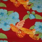 Humming Birds and Hibiscus  Cotton Fabric  from Free Spirit 1/ 2 yd
