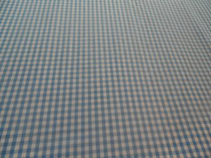 Handmade Cotton Blue Gingham Crib/Toddler Fitted Sheet