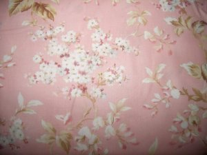 Memories of Love 8068p Pink  Cotton Fabric  from Maywood Studio 1/ 2 yd