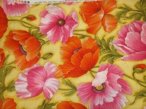 Flower Show 111-(04250)  Cotton Fabric  from Benartex 1/ 2 yd