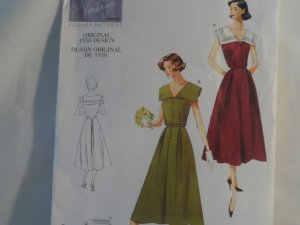 Vogue Vintage 1950 Dress Pattern V1171 -New Size 8,10,12,14