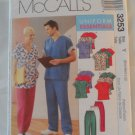 McCall's Uniform Essentials, Pattern ,3253 size sm,med,lrg