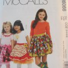 McCall's Girl's  Skirt Pattern ,6066 size 3,4,5,6