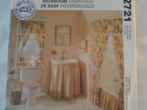 McCall's Home Decor Bathroom Essentials Pattern New,2721