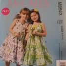 McCall's  Girl's Dress  Pattern 6543,New size,2,3,4,5