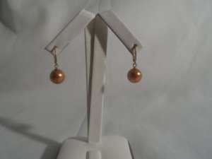 18 kt Gold Pearl (gold colour) Drop   Earrings
