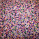 Flower Mart Primrose-Periwinkle  Cotton Fabric  from Benartex 1/ 2 yd