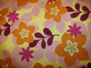 City Blooms  Cotton Fabric  from Benartex 1/ 2 yd