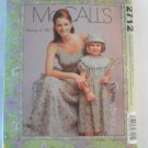 McCall's  Girl's Dress Pattern 2712 - Uncut ,size  Misses 8 - 22,girls 3 - 8