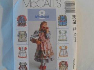 McCall's  Girl's Dress Pattern 8975 - New ,size  6,7,8