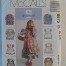 McCall's  Girl's Dress Pattern 8975 - New ,size  4,5,6