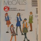 McCall's  Girl's Skirt and Vest Set  Pattern 9469- New ,size  3,4,5