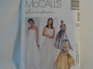 McCall's  Evening Elegance Dress Pattern 2523- New ,size  12,14,16