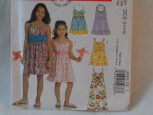 McCall's  Girl's Dress  Pattern  5838- New ,size  3,4,5,6