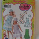 Simplicity Girl&#39;s Dress and Hat  Pattern 4721- New ,size  7 - 14
