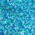 Flower Mart Tropical  Cotton Fabric  from Benartex 1/ 2 yd