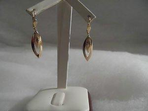 18 kt Gold Double Design   Earrings (7710)