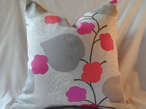Handmade Decorative Reversible Grey Floral Pillow Cover,Throw Covers,20 x20