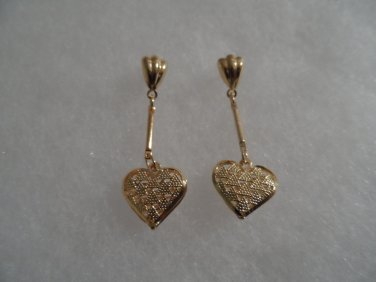 18 kt Gold Heart Stud Earrings
