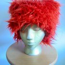 Burning Man Style Orange Furry Hat