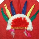gaudy red indian headgear