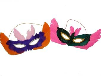 chic feather masks