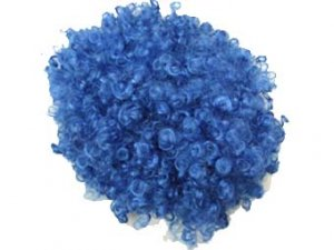 blue afro hair