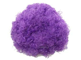 purple afro hair