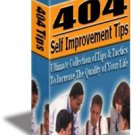 404 SELF IMPROVEMENT TIPS eBook