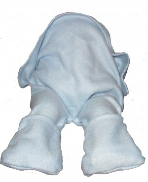 Straddleblanket 12 MONTHS Size SPLIT BABY BLANKET for Car Seat, Walker, Stroller Blue