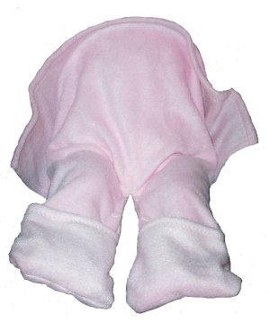 Straddleblanket 12 MONTHS Size SPLIT BABY BLANKET for Walker, Stroller, Car Seat Pink