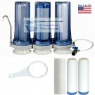 CLEAR TRIPLE UNDER SINK FLUORIDE/ARSENIC/CHLORAMINE FILTERS. CHOICE OF FAUCETS!