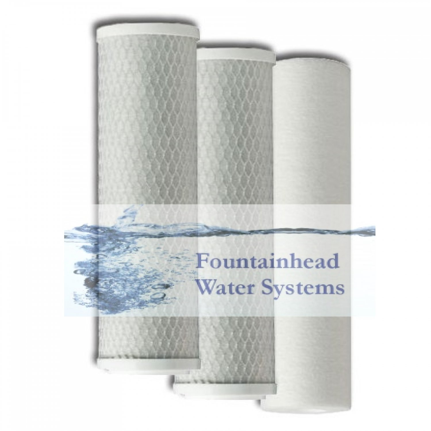 FOUNTAINHEAD 1 SEDIMENT 2 CARBON BLOCK FILTER SET REVERSE OSMOSIS FILTER SYSTEMS