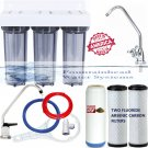 3 STAGE UNDER SINK FLUORIDE/ARSENIC/KDF55 HEAVY METALS FILTERS FAUCET CHOICES.