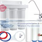 3 STAGE FILTER. SEDIMENT/FLUORIDE/CARBON/KDF/HEAVY METALS/CHLORINE DELUXE FAUCET