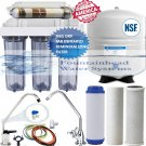 6 Stage 50 GPD Reverse Osmosis Alkaline/Ionizer Neg. ORP System CLEAR Housings