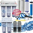 RO/DI 100GPD Reverse Osmosis Dual DI 6 Stage System Aquarium All Clear Housings