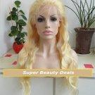 """20"""" Blonde Virgin Brazilian Body Wave Full Lace Wig"""