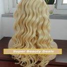 "20"" Blonde Virgin Brazilian Loose Wave Full Lace Wig"