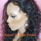 """18"""" Indian Remy Curly Wave Full Lace Wig"""