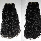 "18"" Virgin Brazilian Deep Curly Machine Hair Wefts, 2 packs, 8 oz"