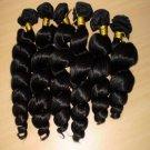 "16"", 18"", 20"" Virgin Brazilian Spring Curl Wave Machine Hair Wefts, 3 packs, 12 oz"