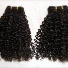 "12"" Virgin Malaysian Soft Kinky Curl Machine Hair Wefts, 2 packs, 8 oz"
