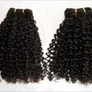 "14"" Virgin Malaysian Soft Kinky Curl Machine Hair Wefts, 2 packs, 8 oz"