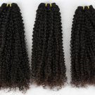 "3 Bundles of 16"" Virgin Brazilian Tight Kinky Curl Machine Hair Wefts, 12 oz"
