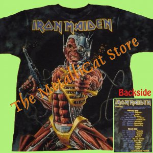 T-SHIRT IRON MAIDEN Somewhere Back in Time Tour 2009 ALLOVER CD SIZE S