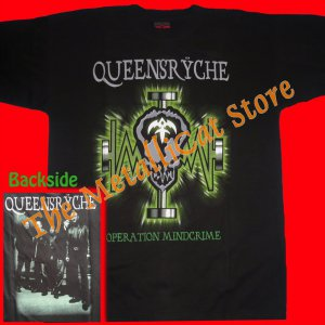 T-SHIRT QUEENSRYCHE Operation MindCrime CD SIZE L HEAVY METAL