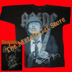 T-SHIRT AC/DC Angus Young CD SIZE L HEAVY METAL